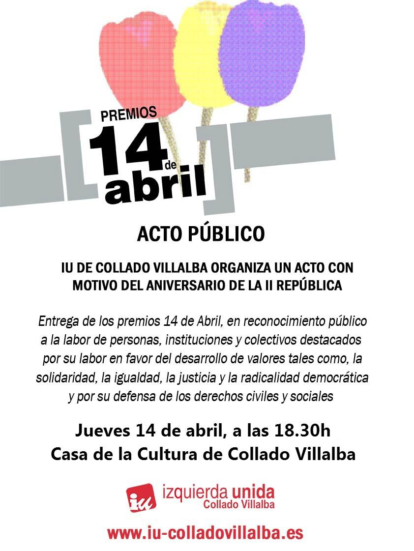 cartel Premios 14 de Abril