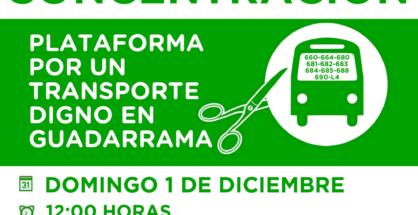 concentración transporte guadarrama