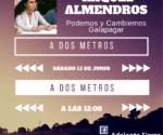 a dos metros de Raquel Almendros