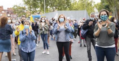 Manifestaciones contra el 'confinamiento selectivo' en 37 zonas de Madrid