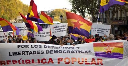 manifestación por los derechos y libertades democráticas