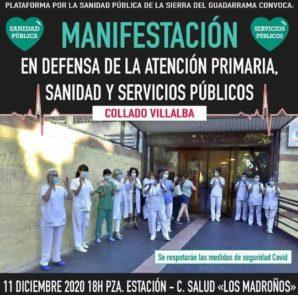 Manifestación en defensa de la Atención Primaria, Sanidad y Servicios Públicos