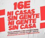 manifestación 16E ni casas sin gente ni gente sin casa